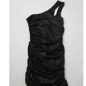 Bebe black snake print dress